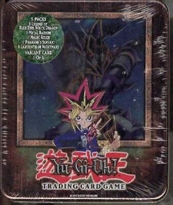 Yu-Gi-Oh! - BUSTER BLADER TIN - 2003 Yugi's  New Sealed Mint Classic 5 Packs
