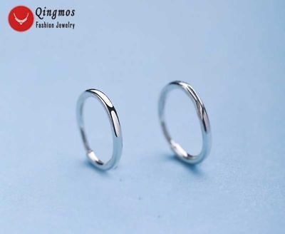 8.5mm White High Quality Ring Sterling Silver S925 Hoop Earring for Women 497