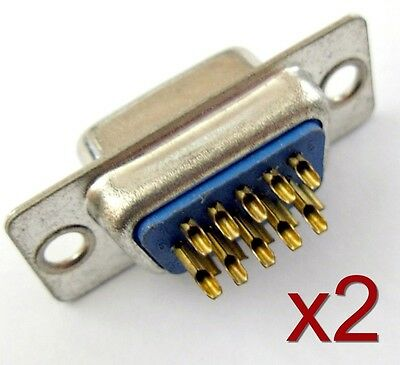 2x connecteur à souder VGA Femelle HD15 / 2pcs High quality Female VGA connector