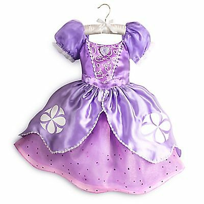 Disney Store Sophia the First Princess Dress Up Costume Halloween Size 7/8 NEW