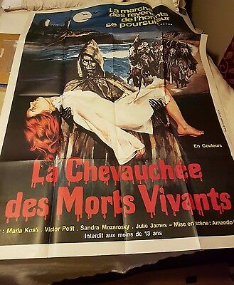 NIGHT OF THE SEAGULLS French 1p '77 Original Horror Large Movie Poster RARE