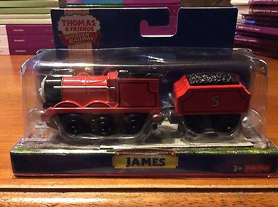 Fisher-Price Thomas the Train Wooden Railway Battery-Operated James 746775213169