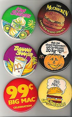 Lot of 14 McDonalds Buttons - as shown