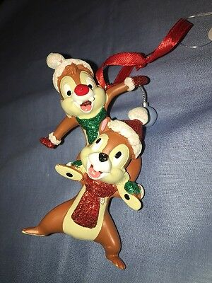 DISNEY PARKS Christmas ornament CHIP & DALE  - NEW