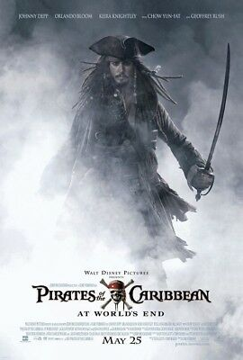 PIRATES OF THE CARIBBEAN AT WORLDS END MOVIE POSTER 1 Sided ORIGINAL 27x40