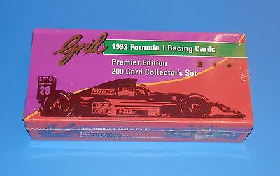 Grid 1992 Formula 1 Racing Race Car 200 Cards Premier Edition Sealed Box