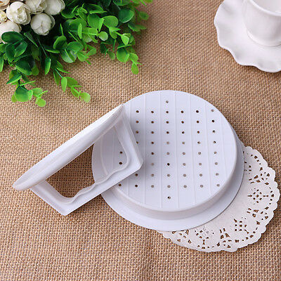 White Plastic Hamburger Meat Beef BBQ Grill Burger Press Patty Maker Mold Moulds