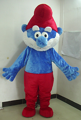 2017 Hot Smurf Mascot Costume Cosplay Fancy Party Dress Adult Size