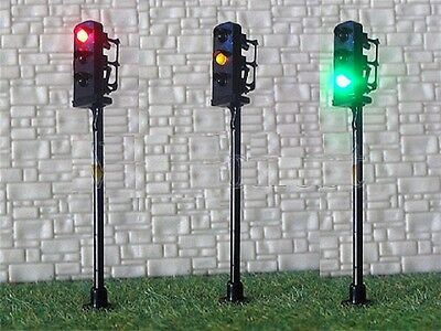 New 1 x Traffic Signal R/Y/G LED Street Traffic Light HO OO Scale 5cm 12-16v