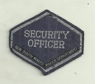 OBSOLETE NSW POLICE DEPARTMENT SECURITY OFFICER HEX PATCH not BADGE