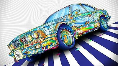 "Art Print Digital Miscellaneous Psychedelic 40/"" x 24/"" Poster P322 Trippy"