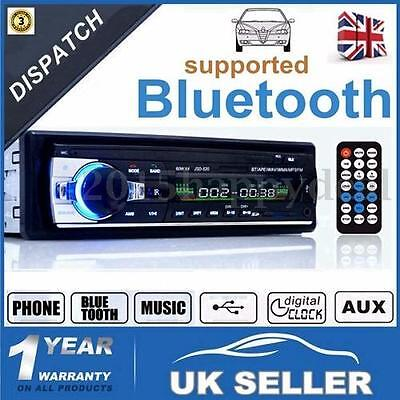 Radio Coche Bluetooth In-Dash 12V SD/USB/AUX FM Estéreo MP3 Reproductor I DIN UK