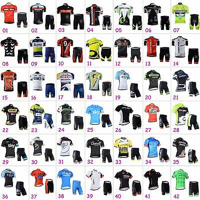 Mens Cycling Outfits Jersey Regular Shorts Kits Bike Shirt  Pad Pants Knicks Set
