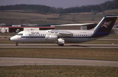 Original 35mm Aircraft Slide Air UK BAe 146-300 G-UKSC 1992