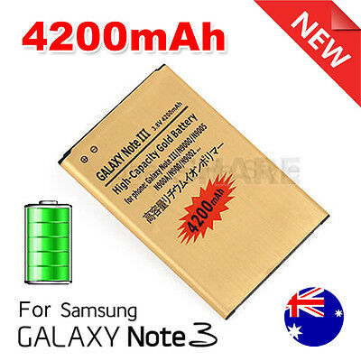 4200mAh High Capacity Gold Replacement Battery for Samsung Galaxy Note 3 N9000