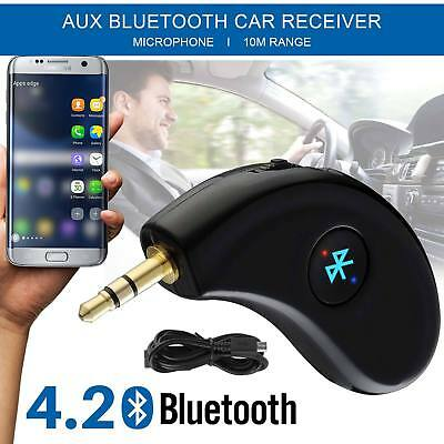 Bluetooth Music Receiver Adapter 4.0 Car CSR Built-in Dongle Mic Audio AUX 3.5MM
