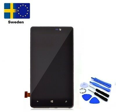 For Microsoft Lumia 820 Touch Screen Digitizer Glass LCD Display Assembly+Frame