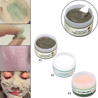 100g Skin Care Milky Facial Carbonated Bubble Clay Mask Deep Cleansing Beauty MZ
