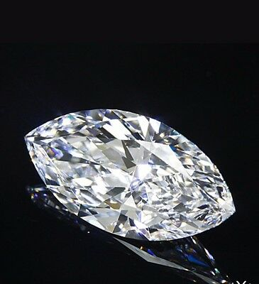 1.02 Ct GIA certified Marquise diamond. G-Si1. SALE 45%. Full life and sparkle!