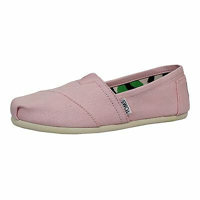 Toms Espadrilles Classic Plimsolls Womens Pink Icing Canvas Shoes
