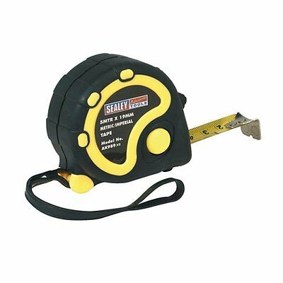 Rubber Measuring Tape 5mt(16ft) x 19mm Metric/Imperial from SEALEY TOOLS AK989 *