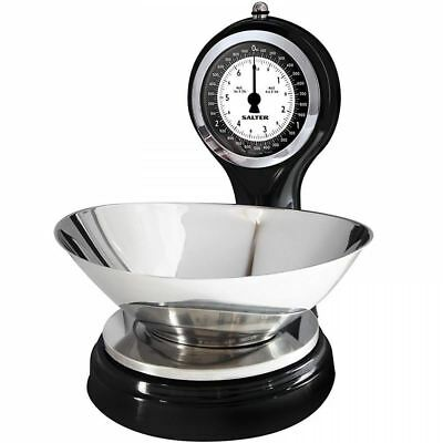 Salter 3kg Vintage Sweetie Shop Mechanical Black Silver Kitchen Weighing Scales