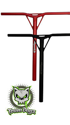 Team Dogz Aluminium Pro Scooter Red Black Y-Bars Handle Bars For Threaded Forks