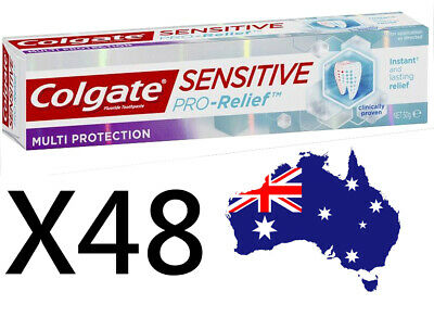48X Colgate sensitive pro-relief toothpaste bulk 50g ~ $1.92 per tube !!