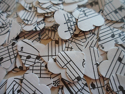 500 Shabby Chic Vintage Music Wedding Party Celebration Confetti Hearts Crafts