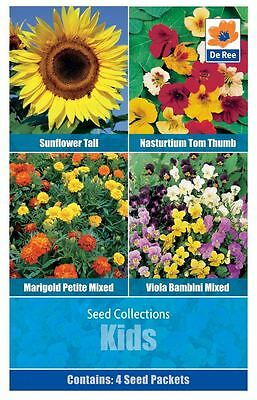 SEED Collection Pack - KIDS Flowers, SUNFLOWER, VIOLA, MARIGOLD