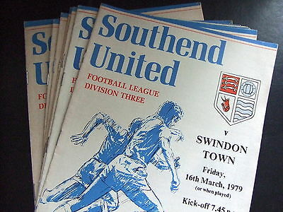 Southend United Homes 1978/1979