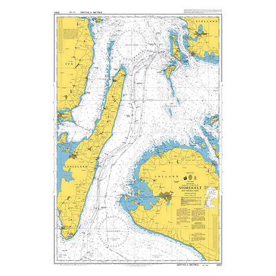 Admiralty Chart 2597: Denmark, Entrance to the Baltic, Storebaelt, Southern Part