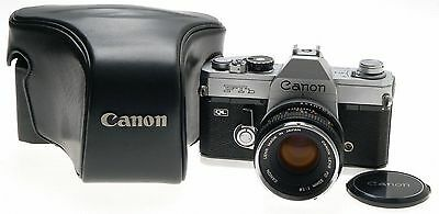 canon ftb ql 35mm slr film camera 50mm f1.8 fd lens with
