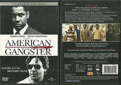 DVD - AMERICAN GANGSTER avec DENZEL WASHINGTON RUSSELL CROWE COMME NEUF LIKE NEW