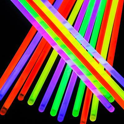 MEGA Glowstick Rave Cybergoth Cyberpunk Party Glow In the Dark Glowing Stick UK!