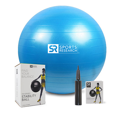 Sports Research Stability Ball (Blue, 55cm)