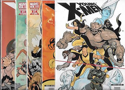 Young X-Men Lot Of 5 - #1 #2 #3 #4 #5 (Nm-)