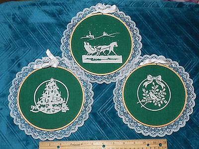 Set of 3 Christmas Wall Decorations-Hand Crafted in the U.S.A.