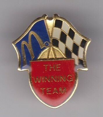 """""""THE WINNING TEAM"""" McDonalds and Checkered Flags Enamel Pin"""