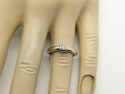 9ct White Gold Ladies Diamond Solitaire Engagement Ring Size I 1/2