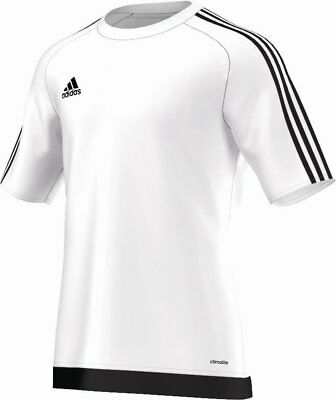 Adidas Football Youth Soccer Estro 15 Jersey Boys Climalite White Black