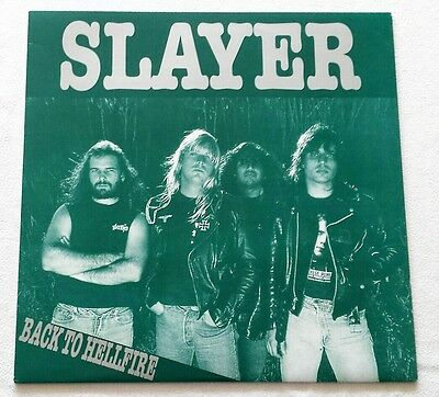 Slayer - Back To Hellfire - LP - 1990 Unofficial Release, White Label Metallica