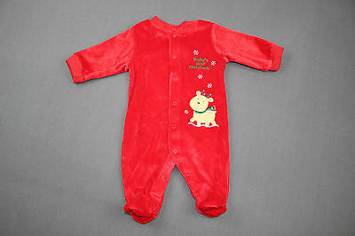 Baby HOLIDAY Sleeper 0-3 months CARTERS BABY'S FIRST CHRISTMAS Red Velvet