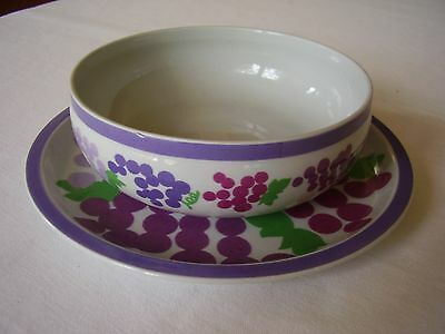 Block Vista Alegre Portugal Grapes Salad Plate and Cereal Bowl FREE SHIPPING