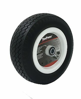 "TruePower. 10"" 4.10/3.50-7 PU Flat Free Tire on Wheel, 2.25"" Offset Hub"