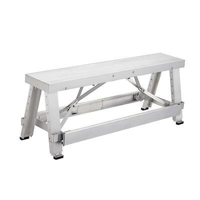 Drywall Bench 18 in. to 30 in. Adjustable Height Professional Aluminum