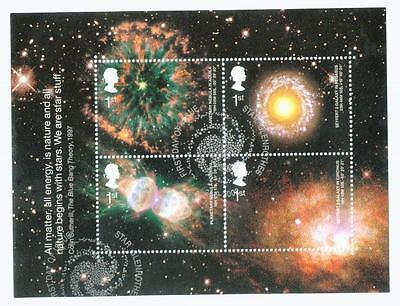 2002 Astronomy Very Fine Used Miniature Sheet Ms2315 Cat £5.25