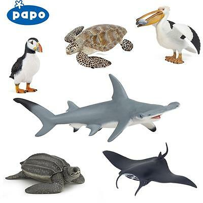PAPO Wild Animal Kingdom OCEAN  - SHARKS, TURTLES, WHALES ETC - Choice of 22