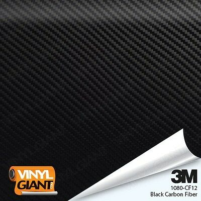 3M 1080 CF12 BLACK CARBON FIBER Vinyl Vehicle Car Trim Wrap Film Sheet Roll