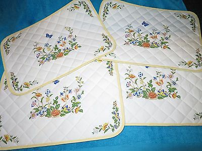 Aynsley Cottage Garden Quilted  Fabric Place Mats X 4  Reversible